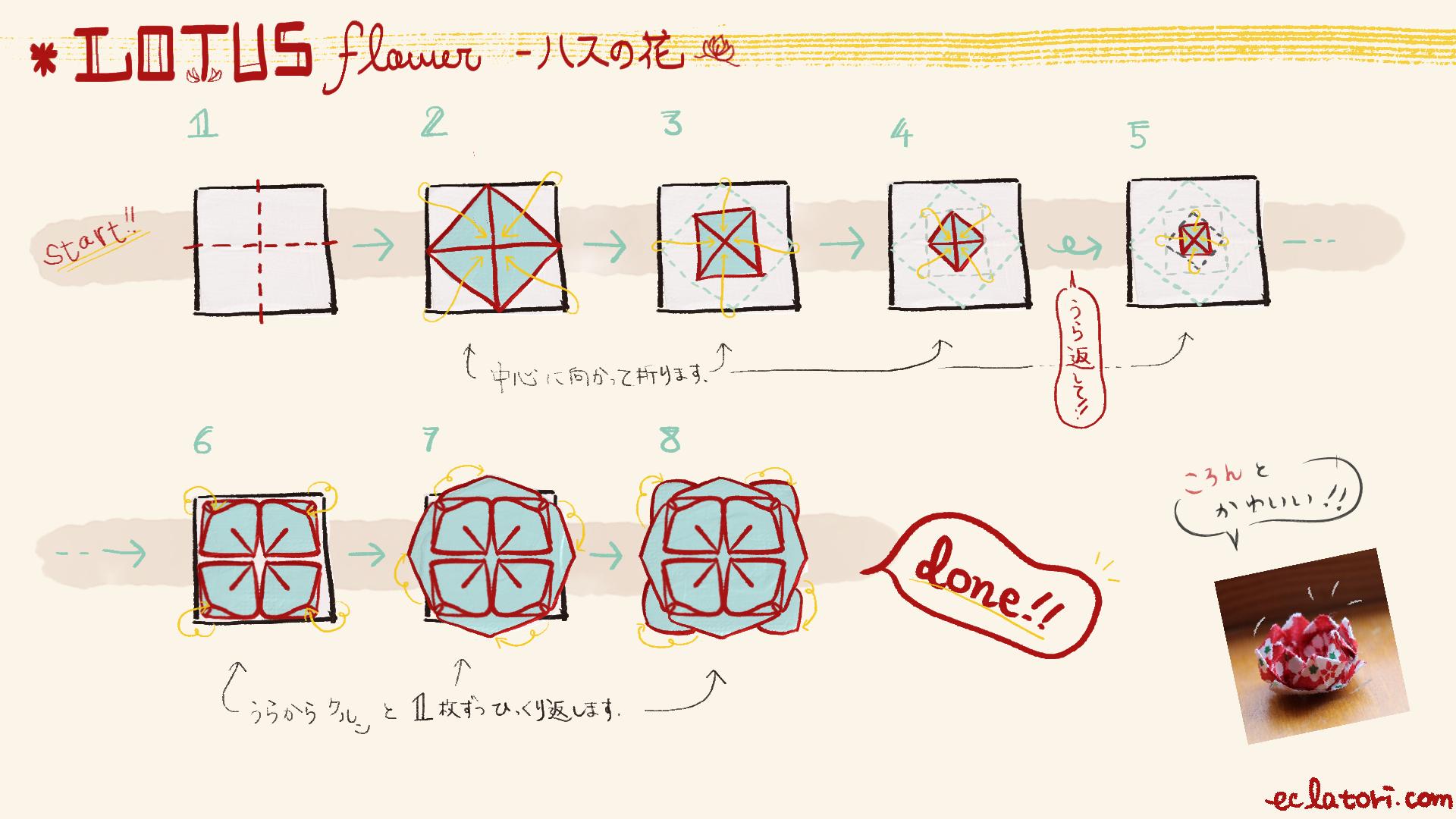 0403ハスの花折り図-2